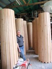 wooden pillars+me