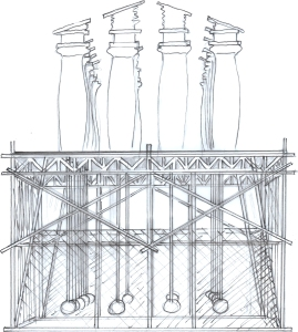 drawing scaff:temple trem