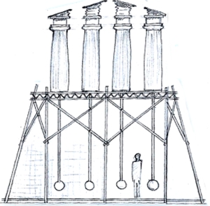 drawing scaff:temple