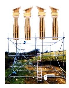 pasteup pillars+ scaff